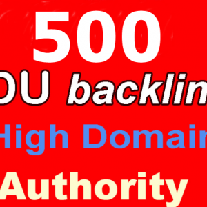 Buy 500 Edu Backlinks