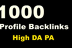 Buy 1000 Profile Backlinks